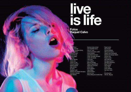 Live is Life: El libro de fotografías de concierto de Raquel Calvo
